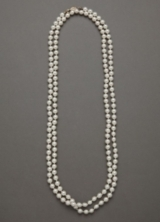 Classic Long Strand Pearl Necklace