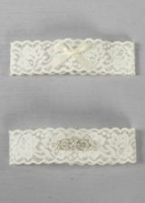 DB Exclusive Lace Elegance Bridal Garter Set