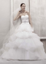 Petite Tulle Ball Gown with Pick Up Skirt