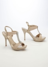 Wedding & Bridesmaid Shoes High Heel Sandal with Crystal T-Strap