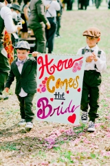 Southern wedding - here comes the bride sign