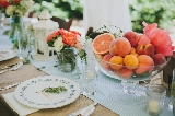 Southern wedding - fruit centerpieces