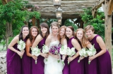 Southern wedding - purple bridesmaid dresses
