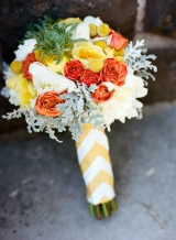 Southern weddings - chevron bouquet