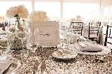 Southern wedding - silver glitter linens