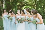 Southern wedding - pale blue bridesmaid dresses