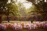 Southern weddings - outdoor reception with string lights