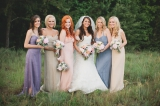 Southern wedding - long bridesmaid dresses