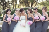 Southern weddings - gray bridesmaid dresses