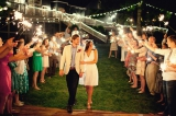 Southern wedding - sparkler exit