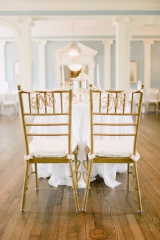 Southern wedding - monogram chair decor