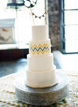 Southern weddings - chevron wedding cake