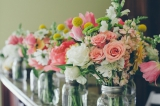Southern wedding - pink and yellow flowers