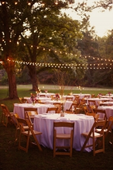 Southern weddings - string light reception