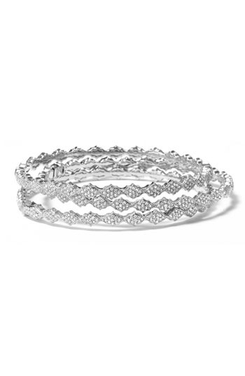 Nadri Crystal Filigree Bangle Bracelet