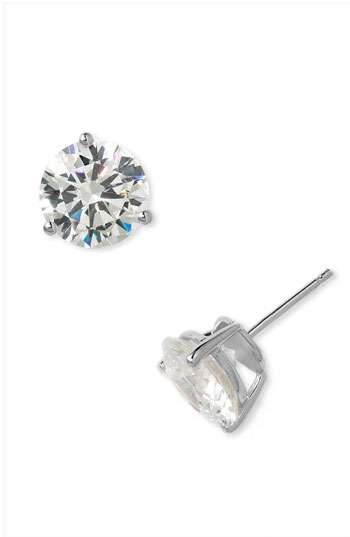Nordstrom Round 8ct Cubic Zirconia Earrings