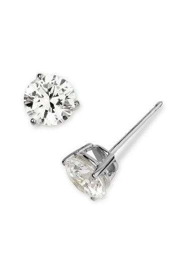 Nordstrom Round 3ct Cubic Zirconia Earrings