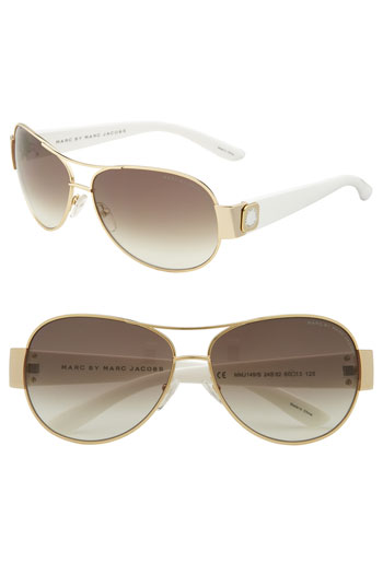 MARC BY MARC JACOBS Metal Aviators with Resin Temples