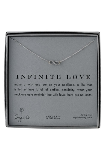 Dogeared 'Infinite Love' Reminder Pendant Necklace