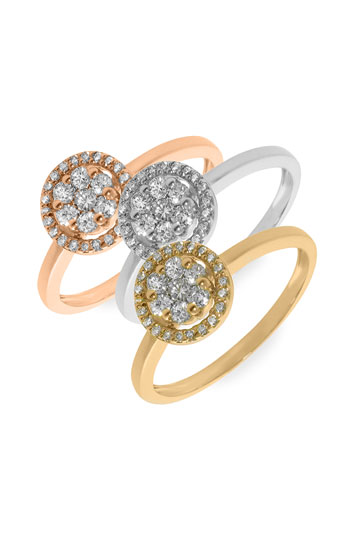 Bony Levy Diamond Flower Stack Ring Nordstrom Exclusive