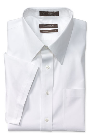 Nordstrom Smartcare Traditional Fit Short Sleeve Dress Shirt