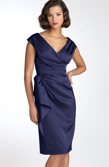 Maggy London Stretch Satin Sheath Dress