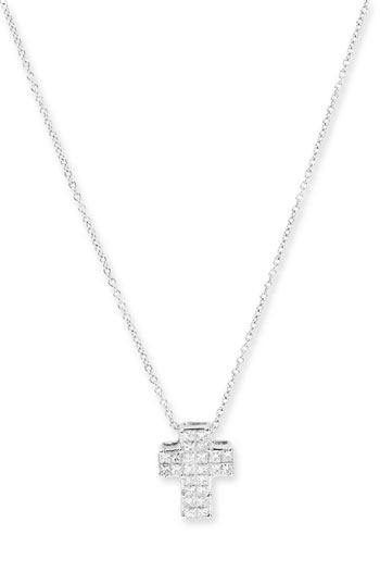 Bony Levy Diamond Cross Pendant Necklace Nordstrom Exclusive