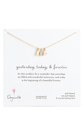 Dogeared 'Yesterday, Today, Forever' Charm Necklace