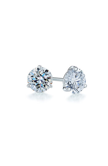 Kwiat 0.50ct tw Diamond & Platinum Stud Earrings