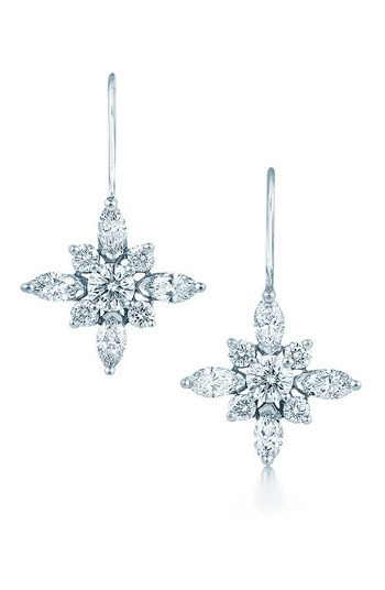 Kwiat Diamond & Platinum Star Earrings