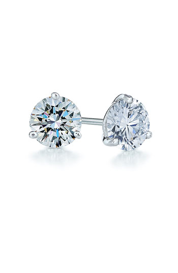 Kwiat 1ct tw Diamond & Platinum Stud Earrings