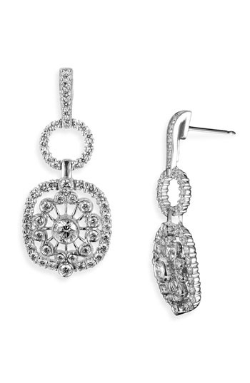 Jack Kelege 'Byzantine' Square Diamond Earrings
