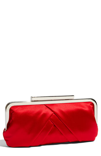 Glint Pleated Frame Clutch