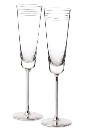 kate spade new york 'darling point' toasting flutes set of 2