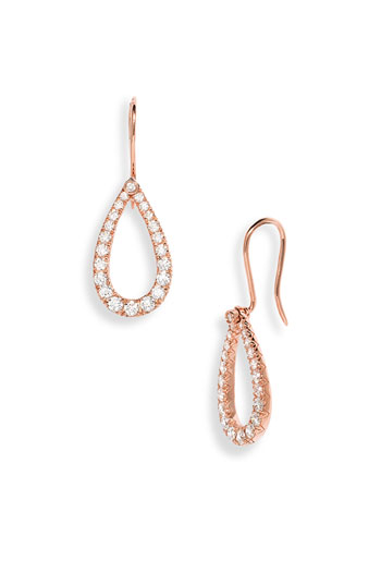 Kwiat 'Contorno' Teardrop Diamond Earrings