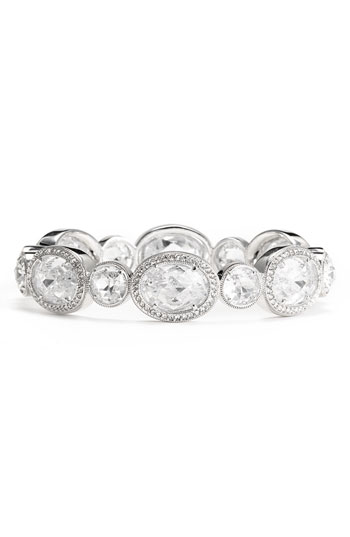 Nadri Crystal & Cubic Zirconia Hinged Bangle
