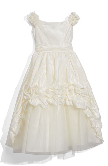 Joan Calabrese for Mon Cheri Taffeta Dress Little Girls & Big Girls