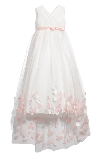 Joan Calabrese for Mon Cheri Tulle & Taffeta Floor Length Dress Little Girls & Big Girls