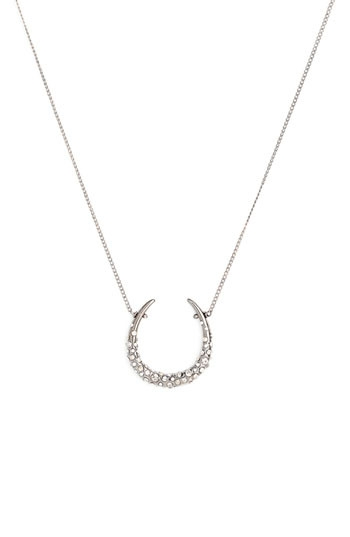 Alexis Bittar 'Miss Havisham' Encrusted Horseshoe Necklace