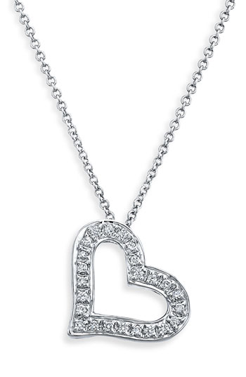 Bony Levy Diamond Heart Necklace Nordstrom Exclusive