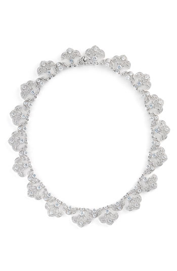 Nadri Scalloped Crystal Necklace