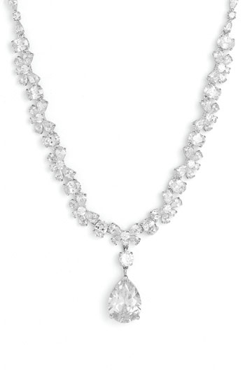 Tasha Cubic Zirconia Pear Drop Necklace