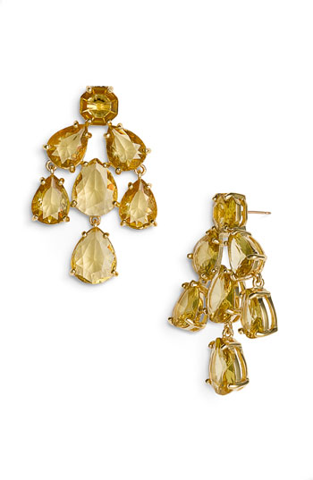 kate spade new york faceted chandelier statement earrings