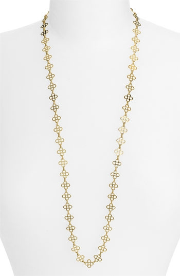Tory Burch Mini Clover Chain Necklace