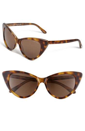 Tom Ford Plastic Cat's Eye Sunglasses