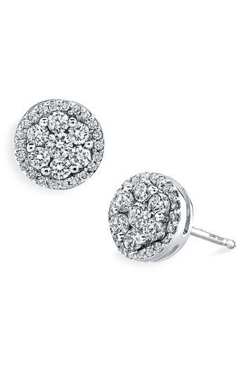 Bony Levy 'Flower' Button Diamond Earrings Nordstrom Exclusive