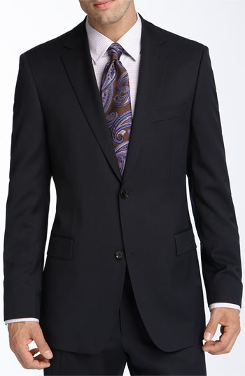 BOSS Black 'Pasini/Movie' Navy Wool Suit