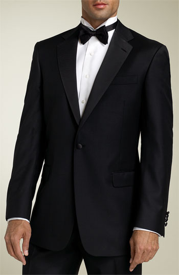 Hart Schaffner Marx 'Gold Trumpeter - Capital Collection' Wool Tuxedo