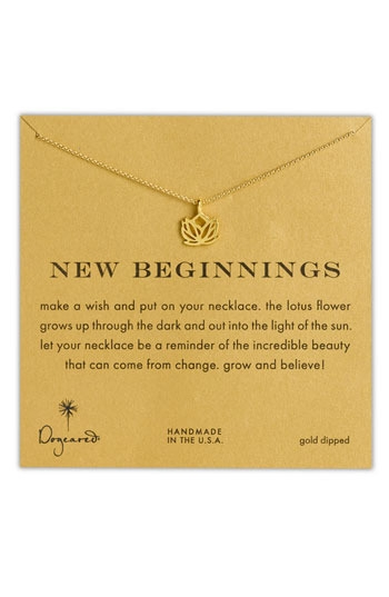 Dogeared 'Reminder - New Beginnings' Pendant Necklace