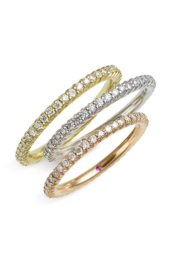 Roberto Coin 'Micropave' Diamond Stackable Ring